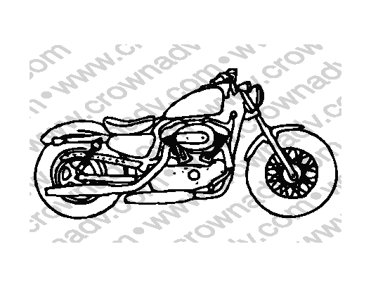 Motorcycle Coasters Clip Art